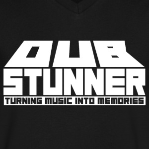 Dub Stunner Text Logo T-Shirts - Men's V-Neck T-Shirt by Canvas