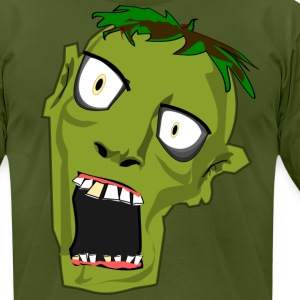 ZombieHead Tshirt - Men's T-Shirt by American Apparel