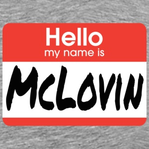 Superbad - Hello My Name Is McLovin T-Shirts - Men's Premium T-Shirt