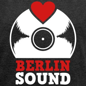 Berlin Sound Vinyl T-Shirts - Women´s Rolled Sleeve Boxy T-Shirt