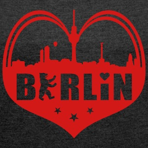 Berlin Skyline Heart T-Shirts - Women´s Roll Cuff T-Shirt