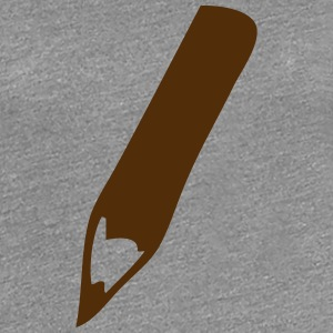 gray wooden pencil drawing 1 T-Shirts - Women's Premium T-Shirt