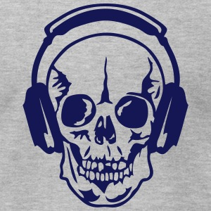 dj headphone audio equalizer death head T-Shirts - Men's T-Shirt by American Apparel