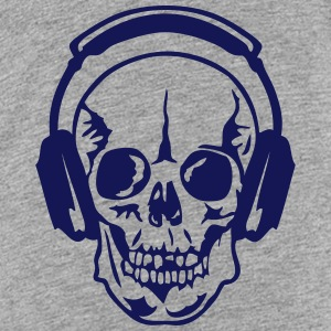 dj headphone audio equalizer death head Kids' Shirts - Kids' Premium T-Shirt