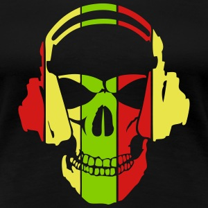 equalizer dj headphones skull head T-Shirts - Women's Premium T-Shirt