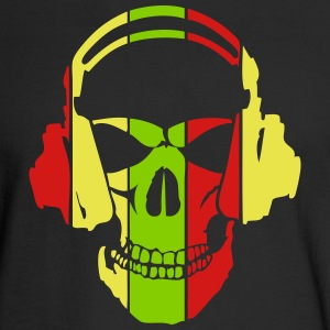 equalizer dj headphones skull head Long Sleeve Shirts - Men's Long Sleeve T-Shirt
