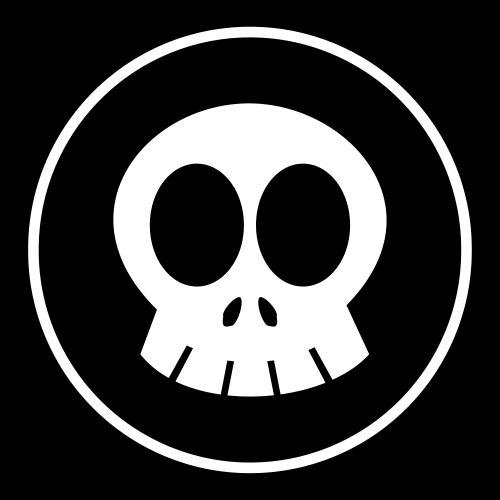 SkullSpace Logo - White