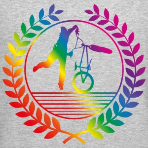 BMX Bicycle rainbow Long Sleeve Shirts - Crewneck Sweatshirt