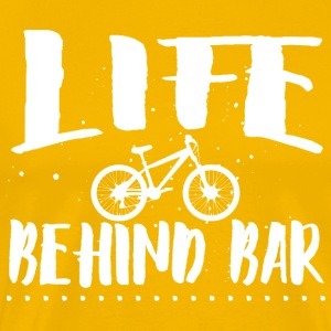 Life behind bar/bicycle T-Shirts - Men's Premium T-Shirt