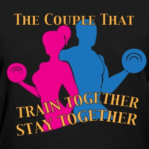 Train together black women's t shirt - Women's T-Shirt