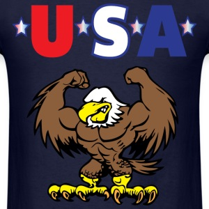 USA navy blue t shirt - Men's T-Shirt