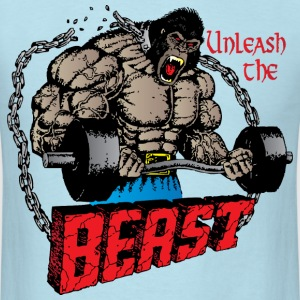 Unleash The Beast light blue t shirt - Men's T-Shirt