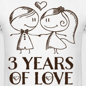 3rd Anniversary 3 Years T-Shirts - Men's T-Shirt