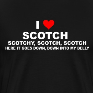 Anchorman Quote - I Love Scotch T-Shirts - Men's Premium T-Shirt