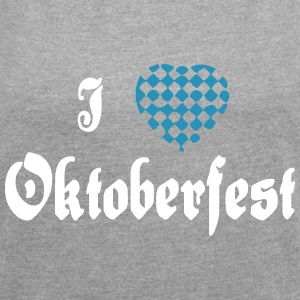 I heart Oktoberfest - Women´s Roll Cuff T-Shirt
