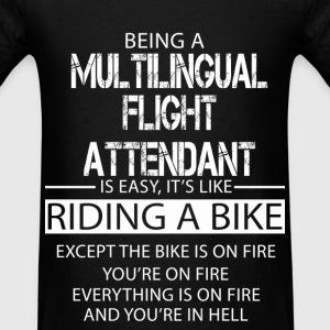 Multilingual Flight Attendant T-Shirts - Men's T-Shirt