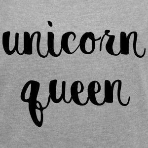 Unicorn Queen T-Shirts - Women´s Rolled Sleeve Boxy T-Shirt