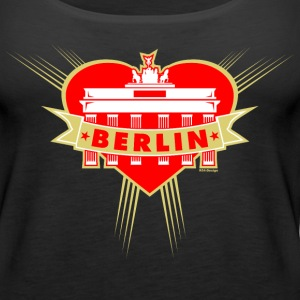 Brandenburg Gate Girl Berlin Tanks - Women's Premium Tank Top
