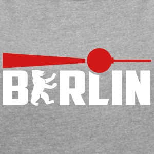 Berlin Bear Tv Tower T-Shirts - Women´s Rolled Sleeve Boxy T-Shirt