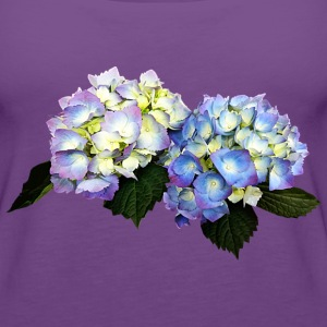 Pale Pink And Blue Hydrangea Tanks - Women's Premium Tank Top