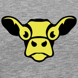 funny cow drawing 303 T-Shirts - Men's Premium T-Shirt