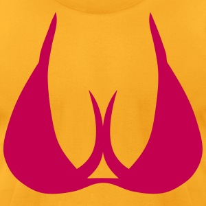 303 breast boob cleavage T-Shirts - Men's T-Shirt by American Apparel