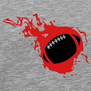 american football rugby ball flame fire T-Shirts - Men's Premium T-Shirt