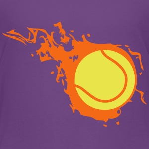 tennis ball flame fireball 302 Kids' Shirts - Kids' Premium T-Shirt