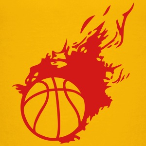 flame basketball ball fireball 1 Kids' Shirts - Kids' Premium T-Shirt