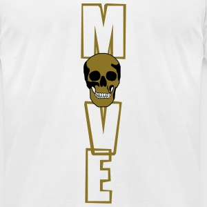 move (skull) T-Shirts - Men's T-Shirt by American Apparel