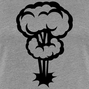 explosion mushroom cloud drawing 302 T-Shirts - Women's Premium T-Shirt