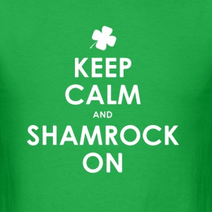 Keep calm and shamrock on  - Men's T-Shirt