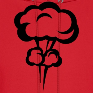 explosion mushroom cloud drawing 3023 Hoodies - Men's Hoodie