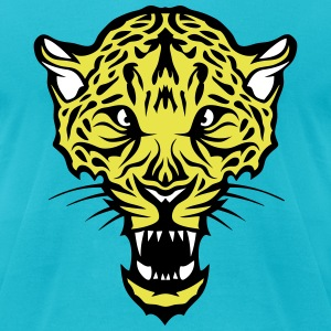 leopard head super 3024 drawing 4 T-Shirts - Men's T-Shirt by American Apparel
