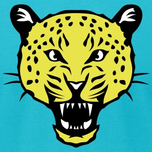 leopard head super 3024 drawing 2 T-Shirts - Men's T-Shirt by American Apparel