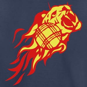 petanque flame fire tiger animal logo 302 Kids' Shirts - Kids' Premium T-Shirt