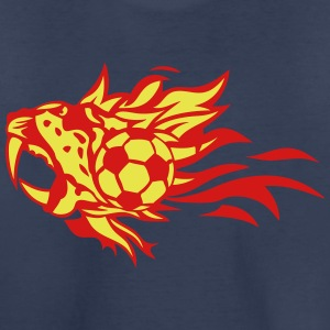 soccer flame fire logo leopards animals Kids' Shirts - Kids' Premium T-Shirt