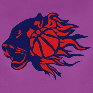 panther basketball fire flame logo T-Shirts - Women's Premium T-Shirt