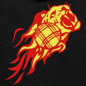 petanque flame fire tiger animal logo 302 Zip Hoodies & Jackets - Unisex Fleece Zip Hoodie by American Apparel