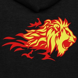 fire flame lion animal 3020 Zip Hoodies & Jackets - Unisex Fleece Zip Hoodie by American Apparel