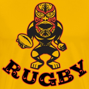 MAORI MASK RUGBY PLAYER - Men's Premium T-Shirt