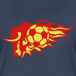 soccer flame fire bull logo animal 3026 T-Shirts - Women's Premium T-Shirt