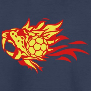 handball leopards fire flame logo animal Kids' Shirts - Kids' Premium T-Shirt