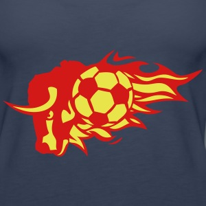 soccer flame fire bull logo animal 3026 Tanks - Women's Premium Tank Top