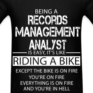 Records Management Analyst T-Shirts - Men's T-Shirt