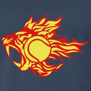 tennis animal tiger flame fire logo 3027 T-Shirts - Men's Premium T-Shirt