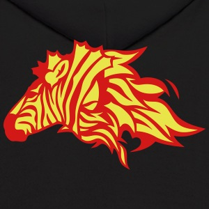fire flame zebra animal 302 Hoodies - Men's Hoodie