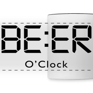 Beer o clock alcohol Mugs & Drinkware - Panoramic Mug