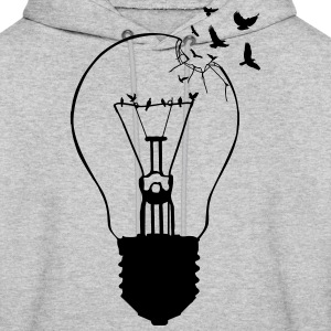 Outlaw, breaking out of the old light bulb Hoodies - Men's Hoodie