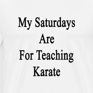 my_saturdays_are_for_teaching_karate T-Shirts - Men's Premium T-Shirt